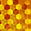 Abstract Gold Background - Modern Design - Warm Yellow Color Tone - Vintage Wallpaper Pattern - Bee Hive Honey Cells - Golden Metal Texture - Repeating Geometric Tiles - Mosaic Tile Effect - Hexagonal — Stock Photo #62260803