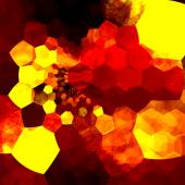 Abstract Background Mosaic - Orange Yellow Art Design Pattern - Messy Unorganized Geometric Chaos - Graphic Illustration Showing Psychedelic Hexagons - Beautiful Surreal Abstraction - Generative — Stock Photo