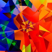 Chaotic Abstract Colorful Art - Red Green and Blue Color - Geometrical Multicolored Triangles Background - Psychedelic Rainbow of Colors - Kaleidoscope Fantasy Illustration - Computer Generated Design — Stock fotografie