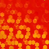 Orange Background for Design Artworks - Abstract Flyer or Cover - Monochrome Stylish Presentation Backdrop - Geometric Backgrounds with Hexagonal Patterns - Web Banner Image - Repeating Tiles - — Stock Photo
