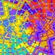 Abstract Colorful Geometric Star Background - Artificial Computer Generated Iterative Lines - Flat Illustration - Yellow Red Purple Digital Backdrop - Mosaic Pattern Image - Colored Creative — Stock Photo #65304349