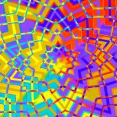 Abstract Colorful Geometric Star Background - Artificial Computer Generated Iterative Lines - Flat Illustration - Yellow Red Purple Digital Backdrop - Mosaic Pattern Image - Colored Creative — Стоковое фото