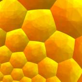 Abstract Fractal Background - Computer Generated Graphics - Inside of Honey Bee Hive - Hexagonal Geometric Backgrounds - Warm Yellow Color Tone - — Stock Photo