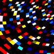 Colorful Squares Mosaic on Black Background. Abstract Red Blue Polygonal Tiles. Geometric Art Illustration. Digital Image with Different Colors. Decorative Colored Shapes. Weird Pixel Graphic. Blocks. — Stock Photo #69146083