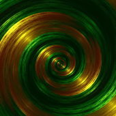 Artistic Green Fractal Spiral. Abstract Hypnotic Background. Golden Swirl Effect. Creative Futuristic Style. Digital Fantasy Graphic. Infinity Concept. Modern Surreal Art Image. Beautiful Shape. — Stock Photo