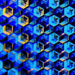 Abstract Blue Hexagons Background. Modern Hexagonal Color Illustration. Geometric Art Texture. Artsy Polygonal Backgrounds. Decorative Mosaic Design. Hexagon Set. Creative Digital Wallpaper. — Stock Photo #70102539