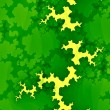 Green Forest Fractal or Clouds. Creative Abstract Concept. Grunge Background. Unique Digital Illustration Design. Modern Art Image. Funky Leaves Texture. Surreal Brain Shapes. Decorative Pattern. — Stock Photo #70102591