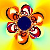 Abstract Floral Art. Unique Decorative Illustration. Surreal Digital Backdrop Design. Flower Fractal. Creative Fantasy Background Ornamental Distorted Pop Art. Funny Psychedelic Image. Graphic. — Stock Photo