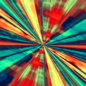 Speed Concept. Abstract Digital Art. Blue Red Background. Fractal Tunnel. Futuristic Fantasy Illustration. Modern Artistic Design. Creative Wormhole Artwork. Artsy Stripes Effect. Interstellar Travel. — Stock Photo
