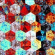 Modern abstract art composition. Artistic textile pattern design. Psychedelic style. Red blue background. Beautiful geometric illustration. Wallpaper patterns. Detail image. Fantasy pic. Backdrops. — Stok fotoğraf #75788661
