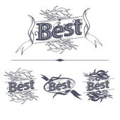 Best label with ribbons — Stock Vector
