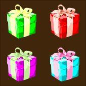Colorful Vector Present Boxes — Vecteur