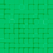 Abstracte lichte achtergrond met groene vierkantjes — Stockvector