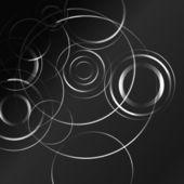 Schwarze und weiße hypnotische hintergrund. — Stockvektor