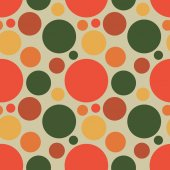 Vector fabric circles abstract seamless pattern background — Wektor stockowy