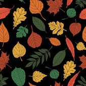 Seamless pattern with leaf, abstract leaf texture — Stok Vektör
