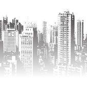 Panorama of the city cartoon — Stock Vector