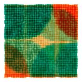 Overlapping Colorful Squares Background — Vettoriale Stock