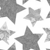 Seamless watercolor stars pattern. — Stock Vector