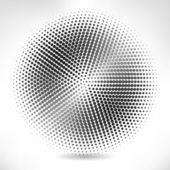 Silver circle of halftone — Stock Vector