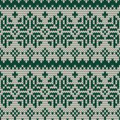 Christmas seamless knitted background. — 图库矢量图片
