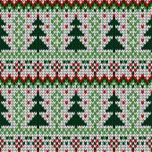 Color knitted Christmas seamless pattern — Stock Vector