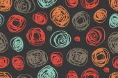 Seamless pattern of circles in retro style — Vettoriale Stock