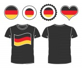 T-shirt with the flag of Germany — Stock Vector