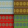 Set of seamless knitted patterns — Stock Vector #62225115