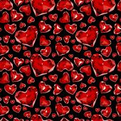 Seamless pattern of glass hearts — Stock Vector