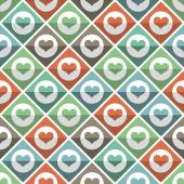 Seamless pattern of hearts tile — Stock Vector
