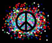 Peace sign. Beautiful symbol of peace. — Wektor stockowy