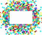 Rectangular frame of colored confetti — Stok Vektör