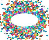 The oval frame of colored confetti — Cтоковый вектор