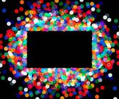 Rectangular frame of colored confetti — Vector de stock