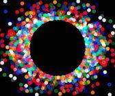 Round frame of colored confetti — Stock Vector