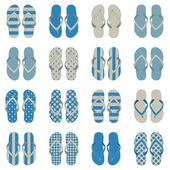 Pop Art style flip flops in a colorful checkerboard design. — Stock Vector