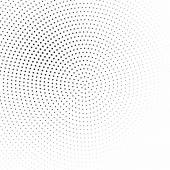 Black and white halftone background vector — Stock Vector