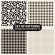 Set of seamless patterns from cells and hearts — 图库矢量图片 #69114507