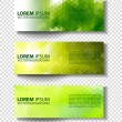 Eco set of headers with four different style — Stock Vector #70015799