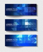 Vector textural banners in grunge style. Eps 10 — Stock Vector