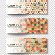 Set of colored vector rectangular banners — Stock Vector #70560465