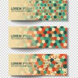 Set of colored vector rectangular banners — Stock Vector #70560473