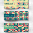 Set of colored vector rectangular banners — Stock Vector #70560697