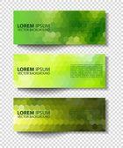 Eco set of green environmental vector banners — Stock Vector