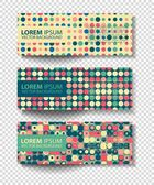 Set of colored vector rectangular banners — Stock Vector