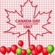 Happy Canada Day card in vector format. — Stock Vector #73744173