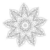 Vector Beautiful Deco Black Mandala — Stock Vector