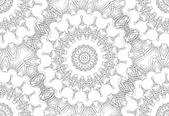 Seamless Contour Floral Pattern — Stock Vector