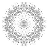 Vector mooie Deco zwarte Mandala — Stockvector